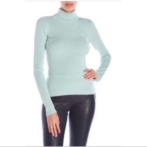 Elizabeth & James mint green Renner ribbed sweater